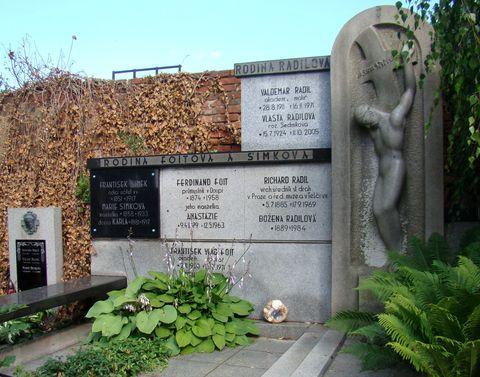 hrob sochaře F. V. Foita a jeho ženy