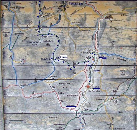 kudy vede Vchynicko-Tetovský plavební kanál