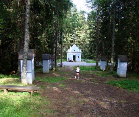 kaple a křížová cesta v Borových Ladech