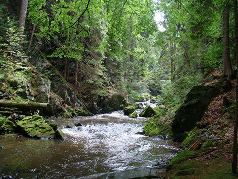 okolní skaliska jsou až 20 metrů vysoká