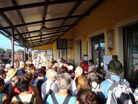 zahájení DEP na volarském nádraží