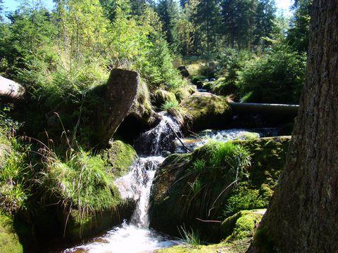 vodopády na Křížovém potoce