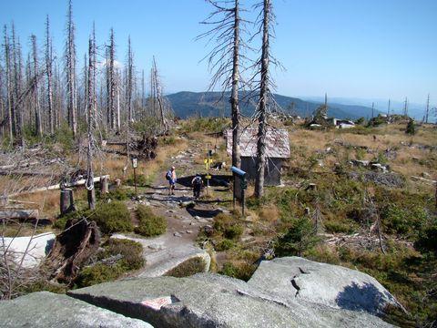 pohled z vrcholu Plechého