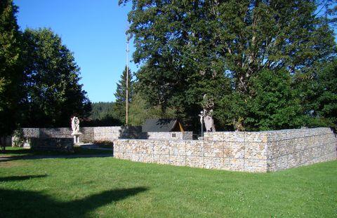 místo, kde stával kostel sv. Trojice