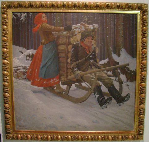 Svážení dříví, 1903