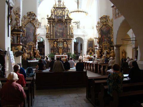 mše svatá za B. Reynka v kostele Nanebevzetí P. Marie