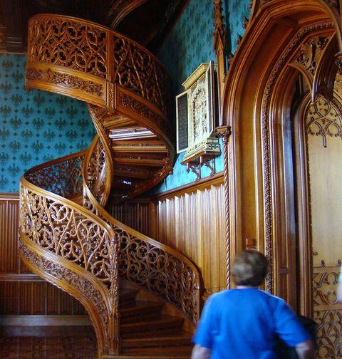 proslulé schodiště v lednickém zámku