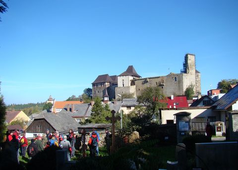 hrad Lipnice je impozantní ze všech stran