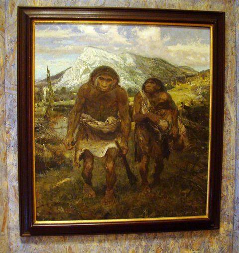 Zdeněk Burian - Neandertálci pod Kotoučem