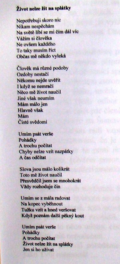 znění veršovaného dopisu Bobu Čechovi