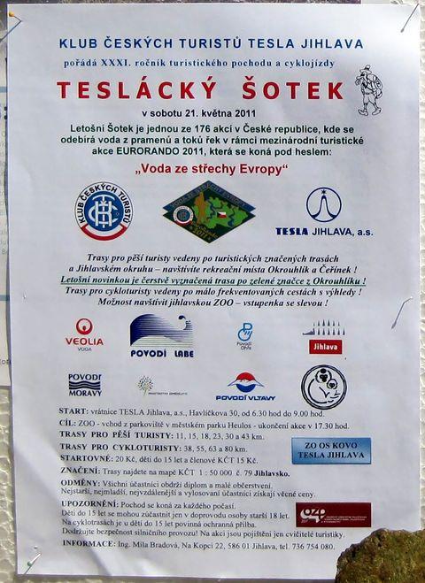 propozice pochodu a cyklojízdy Teslácký šotek 2011