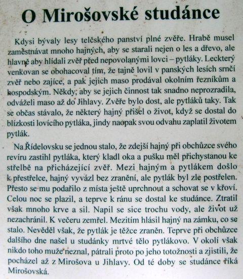 příběh Mirošovské studánky