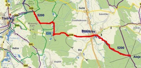 trasa č. 5200 Aleje - Velký Špičák 3.8.2011