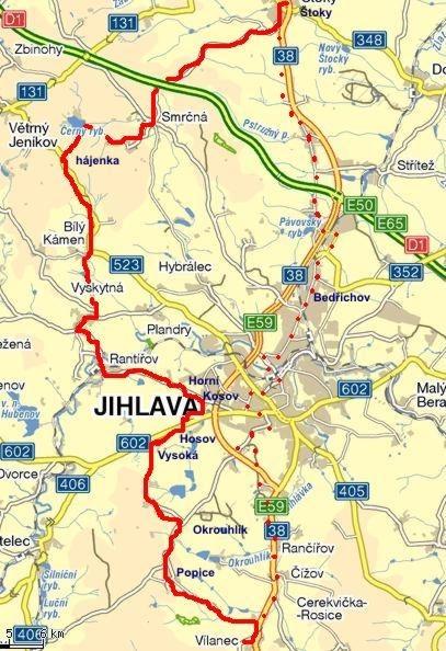 trasa č. 5215 Štoky - Rantířov - Vílanec 4.8.2011