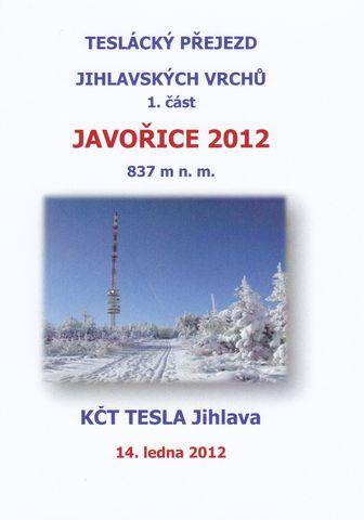 pamětní diplom Javořice 2012