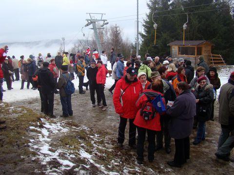 turisté na vrchu Šacberku