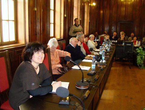 delegáti v sále zastupitelů na jihlavské radnici