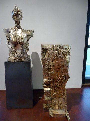 Posel anděl (1986), postříbřené svařované železo