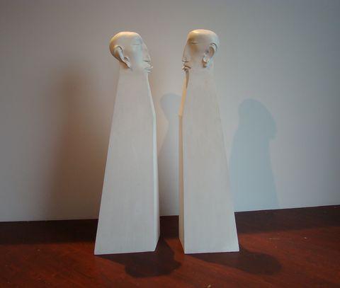 Intimita, 1974, umělá hmota, polychromované dřevo