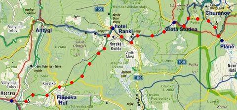 trasa z Churáňova na Modravu 26.1.2012
