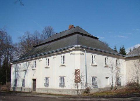 budova bývalých Svatoanenských lázní u Pohledu