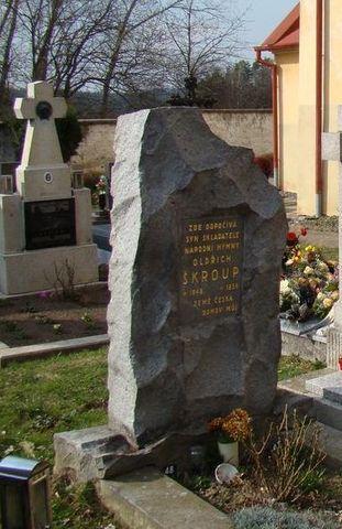 hrob Oldřicha Skroupa
