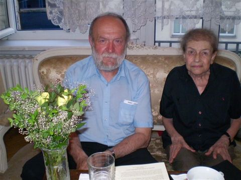 Alma Zsolnay, vnučka Gustava Mahlera, a Ing. Josef Poukar