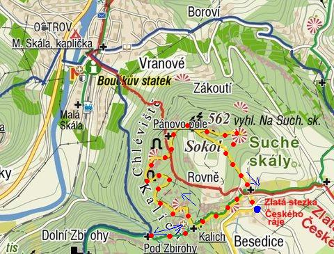 prohlídka Besedických skal - Chléviště a Kalich