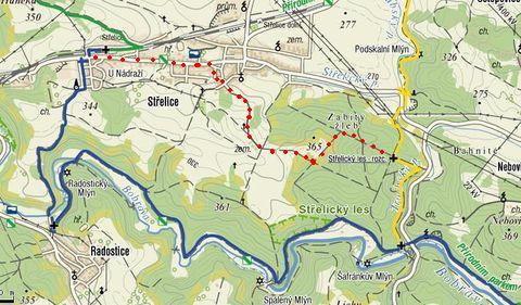 trasa údolím Bobravy