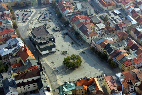 Masarykovo náměstí v Jihlavě v roce 2006