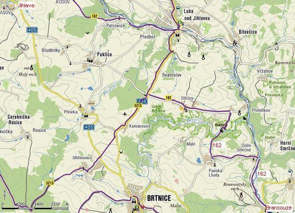 cyklotrasa č. 162 Jihlava-Bransouze