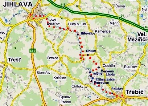 cyklotrasa z Jihlavy do Třebíče 17.4.2011