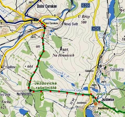 obnova zelené značky z Dolní Cerekve do Jezdovic 22.4.2011