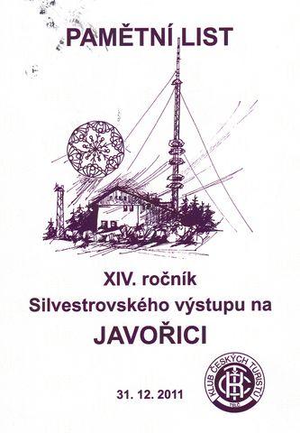 účastnický diplom Javořice 2011