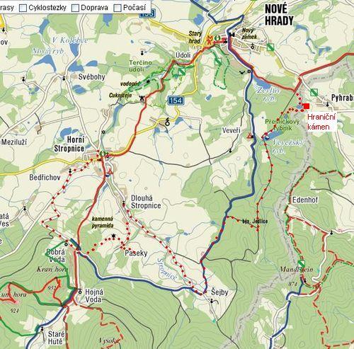 trasa 22.8.2009 - Nové Hrady-Dobrá Voda