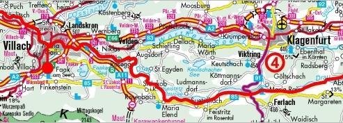 cyklostezka údolím řeky Drávy, úsek Villach-Klagenfurt