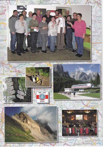 na druhé straně jsou turističtí funkcionáři oblasti KČT Vysočina