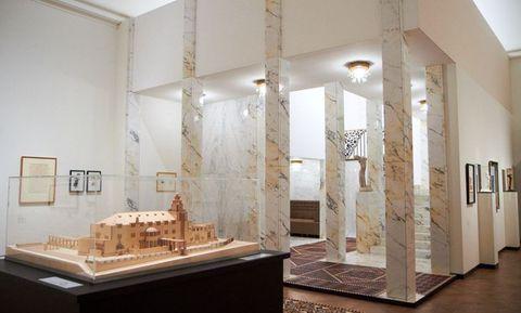 model paláce Stoclet a vstupní schodiště