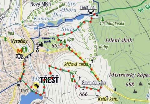 obnova zelené turistické značky na trase hájenka Třešť - náměstí Třešť 17. 6. 2011
