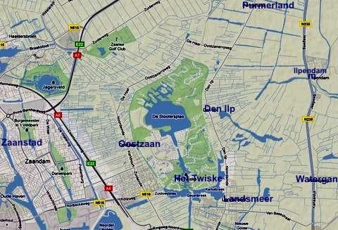 mapka rekreační oblasti Het Twiske