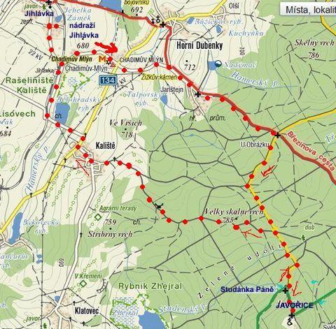 silvestrovská trasa na Javořici 31.12.2011