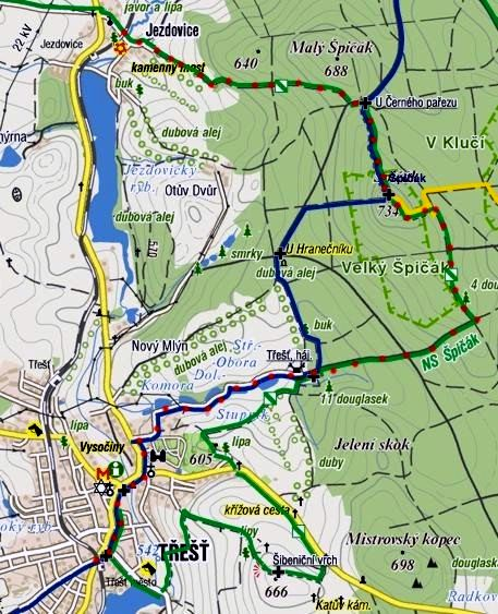 vycházka z Jezdovic přes Špičák do Třeště 16.4.2011