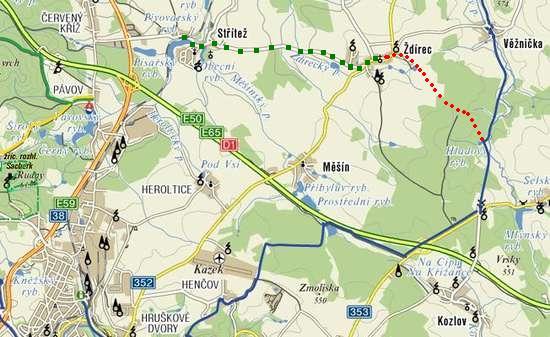 trasa Jihlava-Zdírec