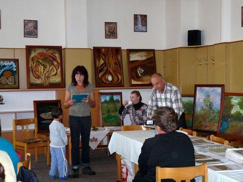 výstava manželů Sarnových ve Větrném Jeníkově