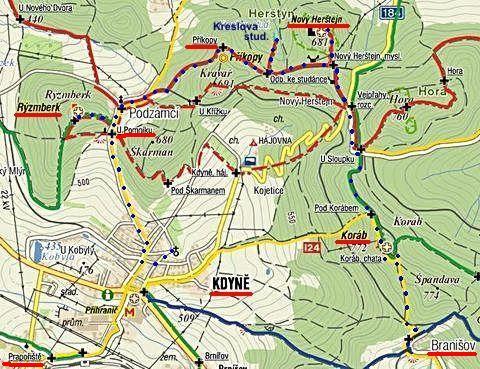 trasa přes tři hrady v okolí Kdyně 28.9.2011