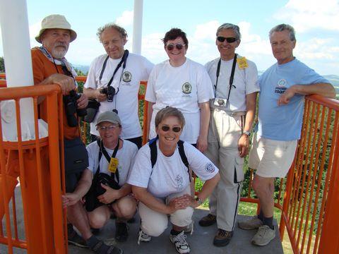 výprava jihlavských turistů na rozhledně Hořický chlum