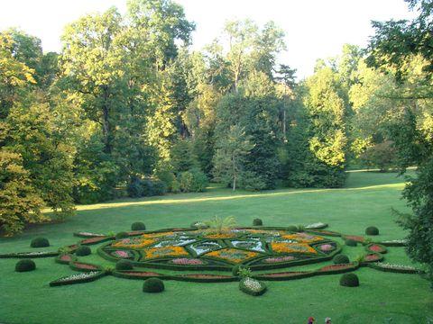 krása parku byla umocněna tóny trubky
