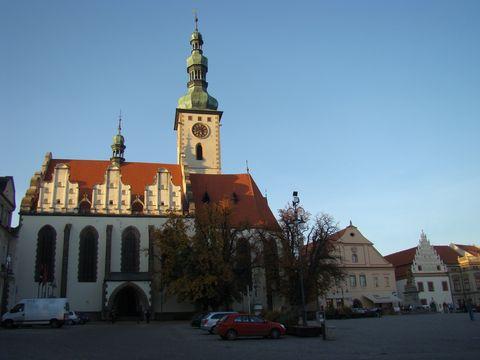 kostel Proměnění Páně na hoře Tábor na Zizkově náměstí v Táboře