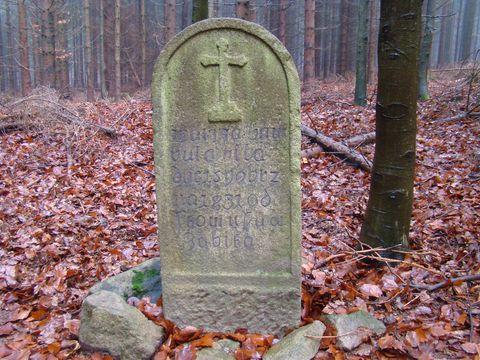 """pamětní kámen """"U zabité"""""""