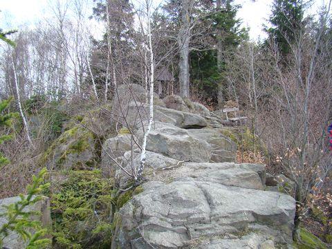 skalní výchoz na Přední skále